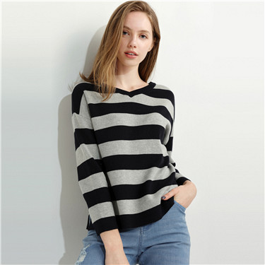 Crwneck, V-neck Sweater
