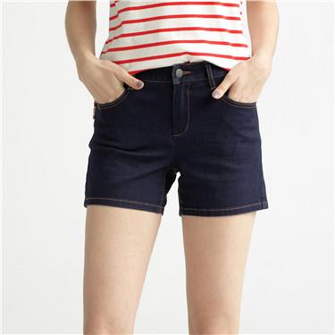 Mid rise denim pocket shorts