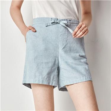 简约麻棉短裤