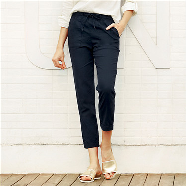 Tapered Fit Linen Pants