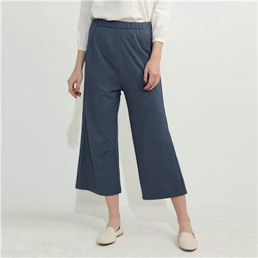 Mid rise wide-leg pants