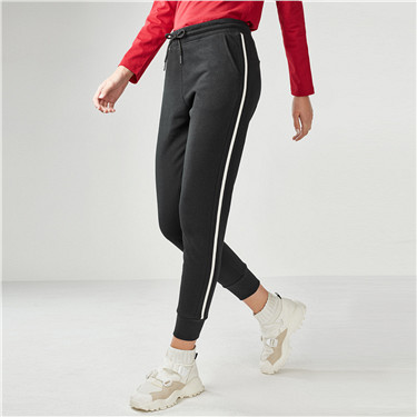 Contrast strap joggers