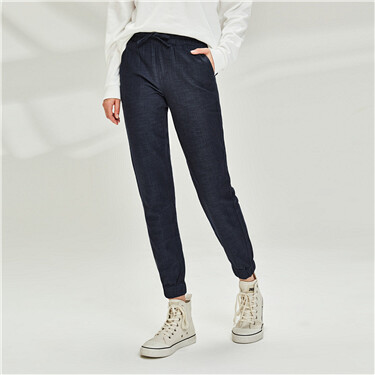 Solid cotton jeans