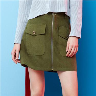 Zip-front skirt Zip-front skirt