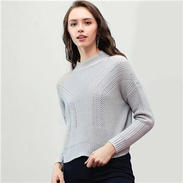 Mockneck pullover sweater