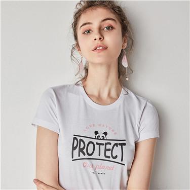 趣味图案印花纯棉T恤