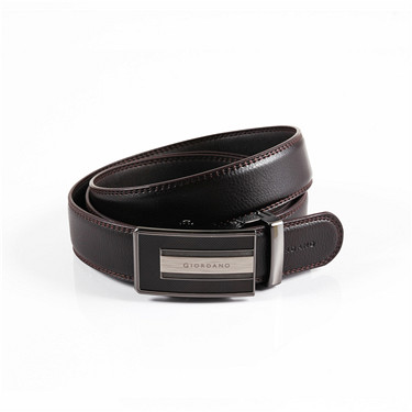 Auto-buckle leather belt