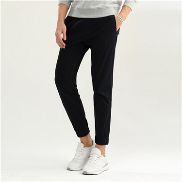 Stretchy mid rise drawstrings pants
