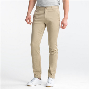 Solid casual khakis