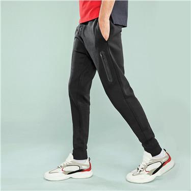 双面空气层运动束脚裤
