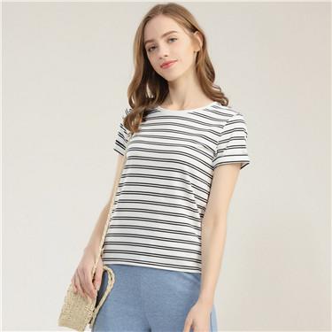簡約純棉圓領松身短袖T恤