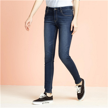 Whiskered slim jeans