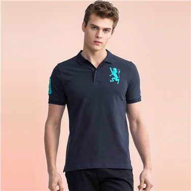 Lion embroidery polo